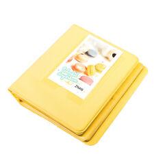 Yellow 64 Pockets Photo Album for Instax Polaroid Fuji Film Camera 7 8 90