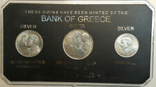 Greece set of 20 drachma 1960, 30 drachma 1963,1964 Silver AU/UNC Kings in Case!