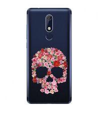 Coque Nokia 5.1 2018 Mort 37 Fleur Shabby Liberty Rose transparente