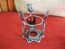 ART DECO STYLE METAL CANDLE HOLDER