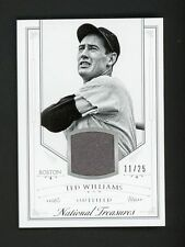 Ted Williams 2015 Panini National Treasures Jersey #11/25 Red Sox FREE SHIP