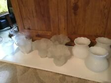 Candle Sconce Shade Hurricane Glass Globe Vintage - Various sold in sets of 3