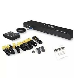 MT-VIKI 8 Port KVM Switch Manual Key Press VGA USB with Cables And Switcher