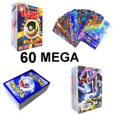 Flash Pokemon Card Lot 60 Game MEGA Cards Ultra Rare Mega EX Popular Trading Hot