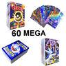 Flash Pokemon Card Lot 60 Game MEGA Cards Ultra Rare Mega EX Popular Trading Hot