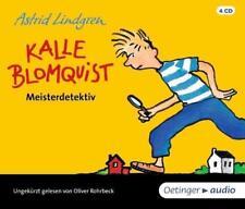 + Lindgren : Kalle Blomquist Meisterdetektiv 4er CD HörBuch NEU Oliver Rohrbeck