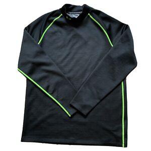 Men's Under Armour Black Mock Turtleneck Golf Shirt Size Large (CX50)