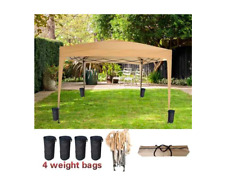 Pop Up Gazebo Tent 3Mx3M No Side Top Canopy Outdoor Picnic Beach Beige Brand New