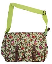 Quality Ladies Womens Owl Tree Print Handbag (loc.E206)