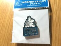 "2019 Moomin Valley Park JP Limited Pin badge ""Moomin&Little My"",1.2x0.8in Blu"