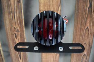 Feu Arrière Stop LED MT1 Aluminium CNC Grille Noir Custom Cafe Racer Harle