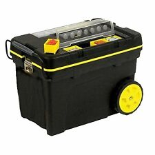 Stanley MOBILE TOOL CHEST w/ ORGANISERS for Big Tools Heavy Duty, 61x42x38cm