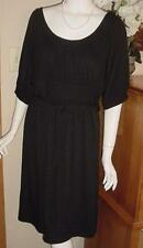 APT 9 CASUAL BLACK DRESS SZ 1X EMPIRE WAIST  K118