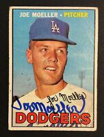 Joe Moeller Dodgers signed 1967 Topps baseball card #149 Auto Autograph 2
