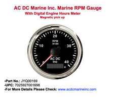 John Deere Marine RPM Gauge With Digital Engine Hours Meter Magnetic # JYQ00169