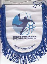 Israel Handball Association Pennan, vintage flag, With Compliments, rarre !