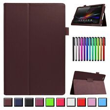 Ultra Slim Leather Stand Case Cover For Sony Xperia S1 Z1 Z2 Z4 Z3Compact Tablet