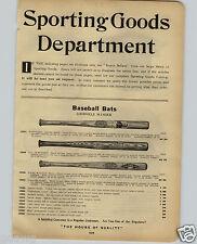 1914 PAPER AD Louisville Slugger Baseball Bat Nap Napoleon LaJoie Decal H Wagner