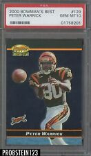 2000 Bowman's Best Acetate Parallel Peter Warrick Bengals RC Rookie PSA 10