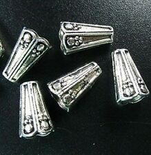 30pcs Tibetan Silver Ornate Cone Cord End R812