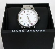 New Marc Jacobs MBM3420 Silver Dial and Stainless Steel Band Women Quartz Watch