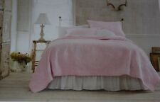 Rachel Ashwell Simply Shabby Chic Soft Pale PINK ROSE F/Q QUILT SHAM SET Pastel