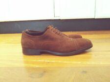 Men's Brown Suede Cap toe Dress Shoes Size 7( fits like 8)