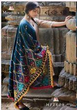 Indian Pakistani Salwar Suit Dupatta Exclusive Khadi Stole Kashmiri Thread Work