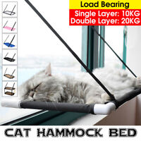Single/Double Layer Cat Window Perch Hammock Bed Pet Cat Lounger Suction Cups