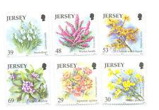 Jersey-Winter Flowers set of 6 mnh