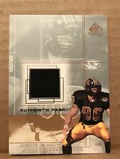 Justin Smith Missouri 2001 Upper Deck Authentic Fabric Game Worn Jersey Card SM