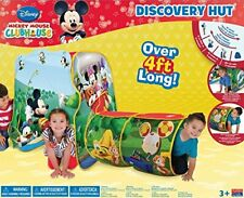 Disney Mickey Mouse Playhut Discovery Hut Tent & Tunnel 4 Feet Long