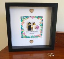 Luxury unique personalised LEGO Wedding / Anniversary gift frame AFOL