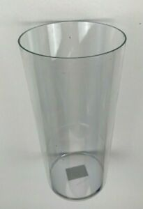 Clear Plastic Conical Vase - 24 cm Tall Acrylic - 12 cm Wide at top