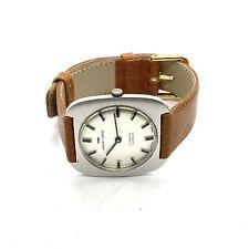 Antique Art Deco Stainless Steel Jaquet-Droz Mechanical Gentleman's Watch #46