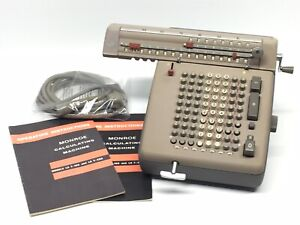 Vintage Monroe Mechanical High Speed Electric Calculator No. LA7  Adding Machine