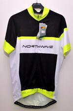 Maillot de Vélo - NORTHWAVE 89151072 Logo Jersey - Noir/Jaune Fluo - T.XL - NEUF