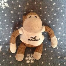 "PG TIPS TV ADVERT HEY MONKEY 10"" SOFT KNITTED MONKEY TOY Window sucker"