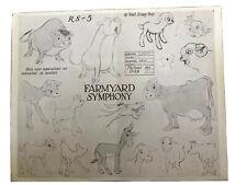 Original Disney Model Sheet  Farmyard Symphony   1930's