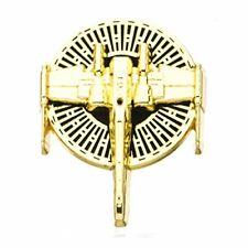 Star Wars Jewelry Men's Episode 8 X-Wing Enamel Lapel Pin Jewelry, Gold