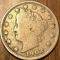 1902 USA 5 CENTS LIBERTY