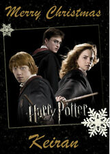 HARRY POTTER Personalised Christmas Card - Add your own name