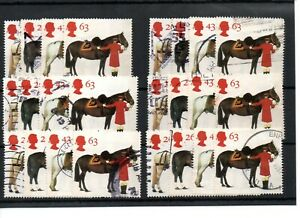 GB - Commemoratives - 1997 - six  sets - Queen's Horses - Commercially used