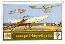 POSTCARD GERMAN AVIATION COMMEMORATION OF SAXONY FLIGHT WEEK