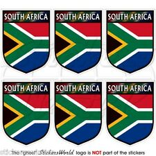 """SOUTH AFRICA African Shield 40mm(1.6"""") Mobile Cell Phone Mini Stickers-Decals x6"""