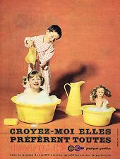 PUBLICITE ADVERTISING  1961   GROSFILLEX   plastiques
