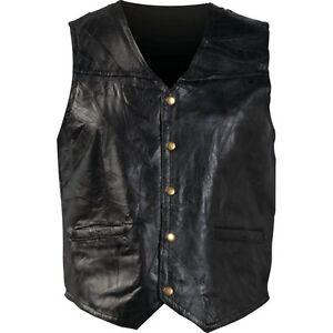 New Mens Genuine Leather Motorcycle Biker Vest Lg XL 2X Or 3X