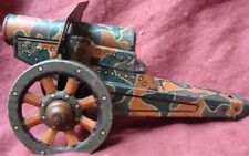 Old vintage winding Tin colorful Army canon Toy  from Japan 1930