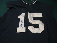 Homer Bush signed autographed game used yankees jersey