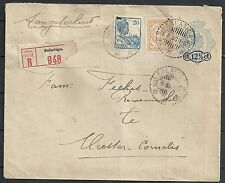 Netherland Indies 1930 uprated R-cover Salatiga to Meester-Cornelis